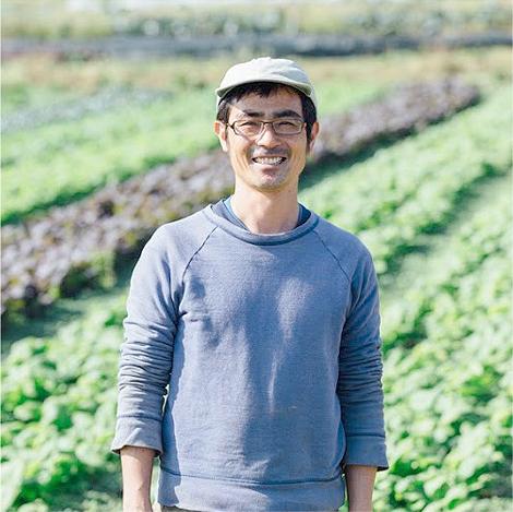 地元の有機農産物を優先に扱います